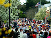 Runners completing the Boston Marathon in 2010