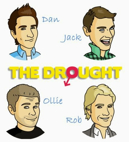 The Drought, Lad Lit, Comedy novel, funny book, book abour relationships, Dan Hilles, Rob Devlin, Ollie Pemberton, Jack Chatham