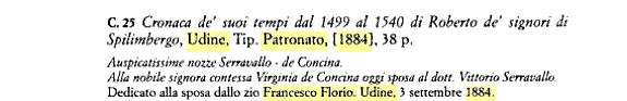 Cronaca di Roberto da Spilimbergo trascritta e annotata da V. Joppi, cit