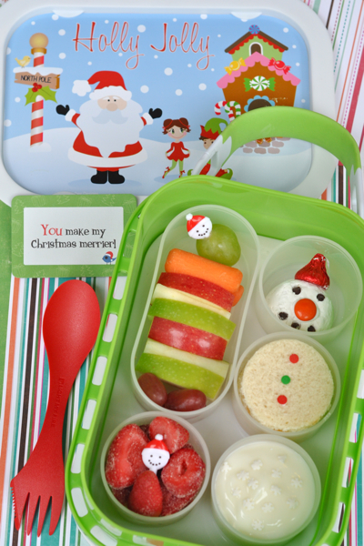Snowman Yubo Bento School Lunch