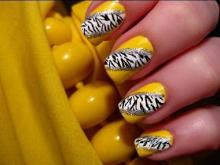 saranje noktiju - animal print nokti 004