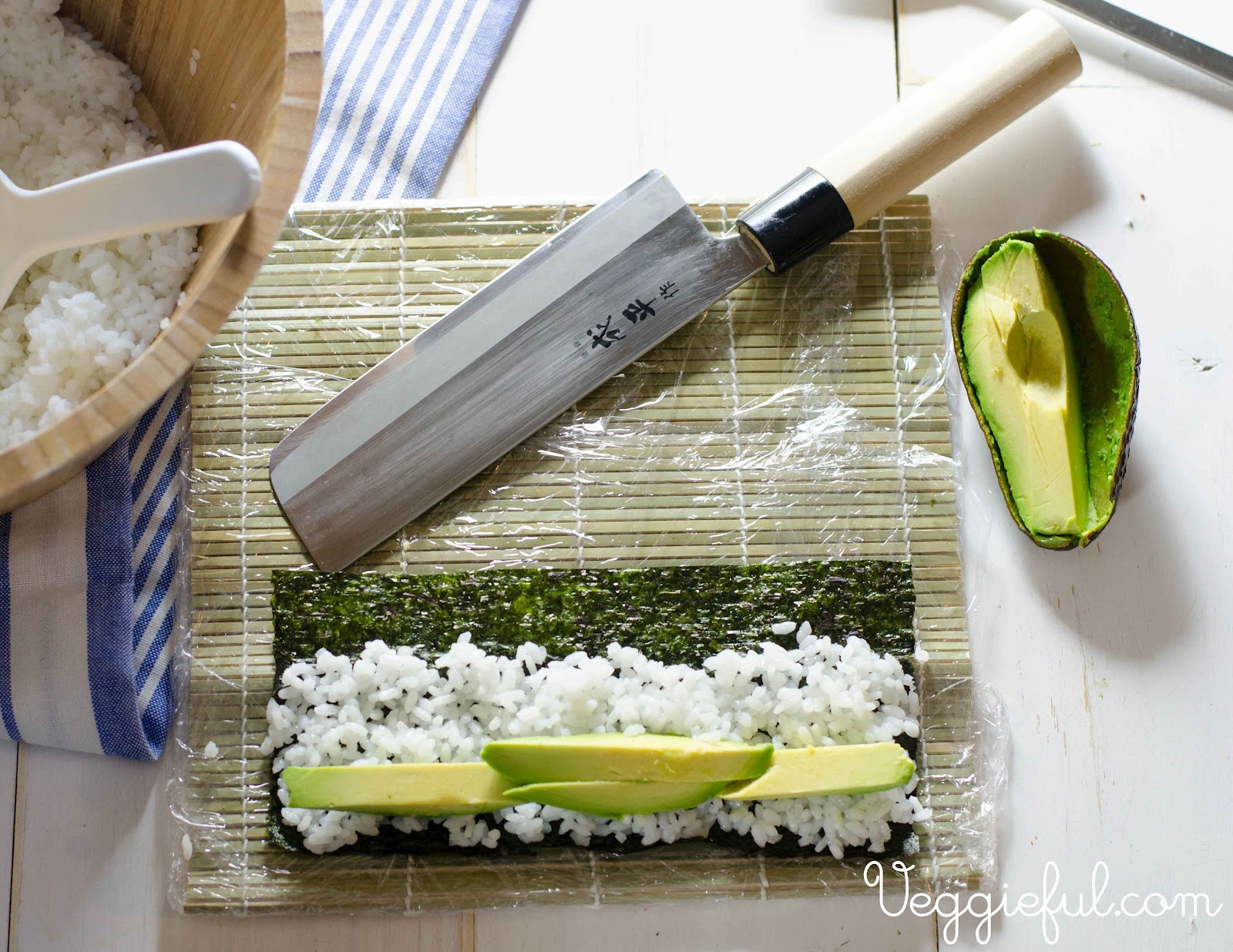 Cut Avocado In Half Remove The Seed Slice The Avocado Lengthwise Into  Thick Strips And Scoop Out With A Spoon Position Avocado Strips In A  Single,