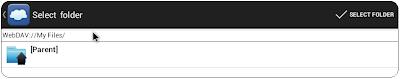Android FolderSync Select Folder