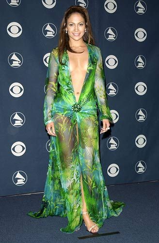 Jennifer Lopez Green Dress