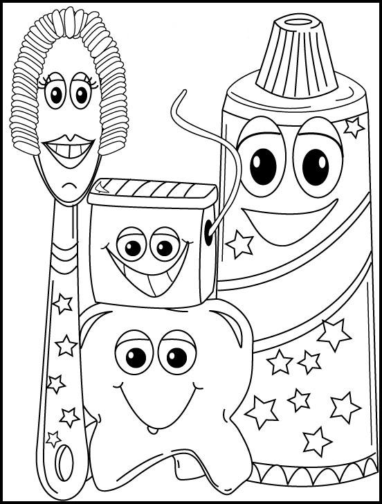 Higiene personal en niños para pintar - Imagui
