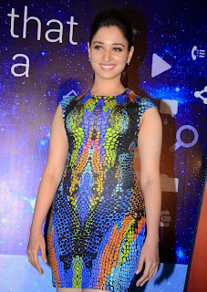 Actress Tamannaah Picture in Short Dress at Celkon Mobile OCT A510 Launch 108