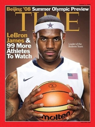 Sports Chatterings: Miami Heat Stars Magazine Covers Lebron James