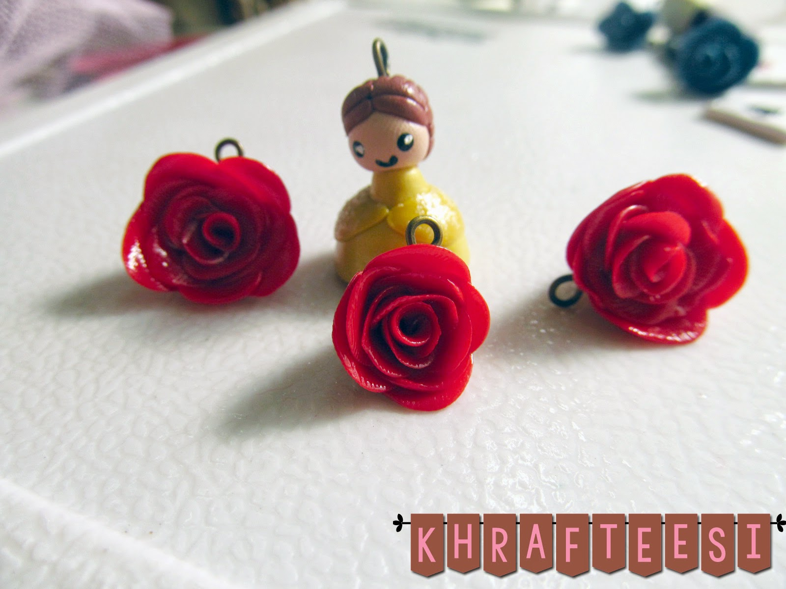 Belle chibi from beauty and the beast charm