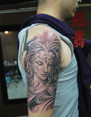 goddess tattoo design on the arm