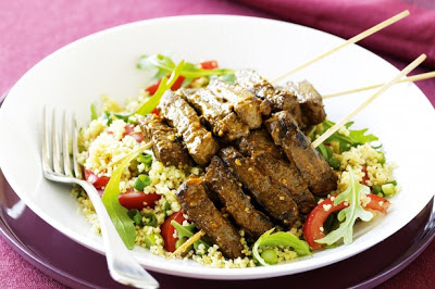 Moroccan Lamb Skewers With Couscous Recipe
