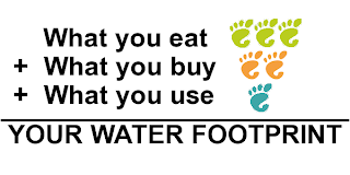 water footprint. How much do you eat
