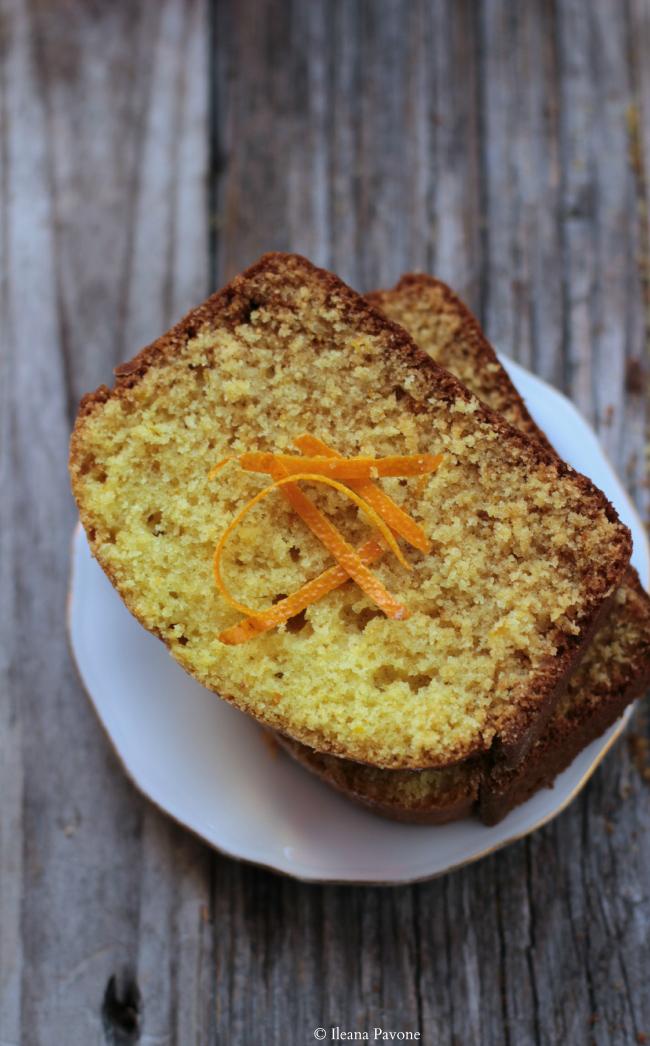 cake all'arancia con farina di riso ( senza lattosio e senza lievito )