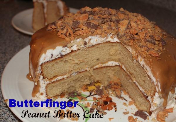 Butterfinger Peanut Butter Cake