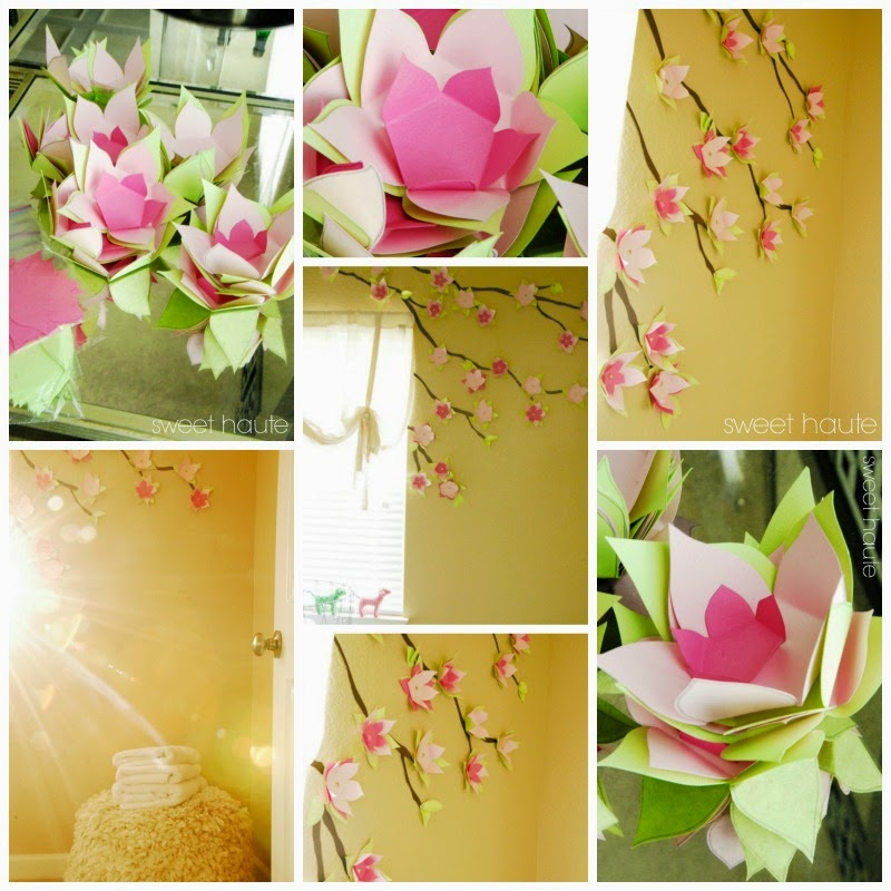 This cherry blossom template will help you make beautiful cherry blossom wall decor.