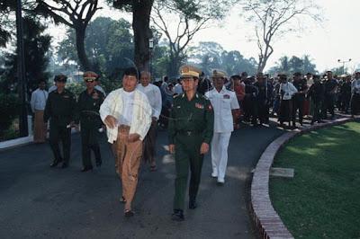 Khin Nyunt and Khin Shwe