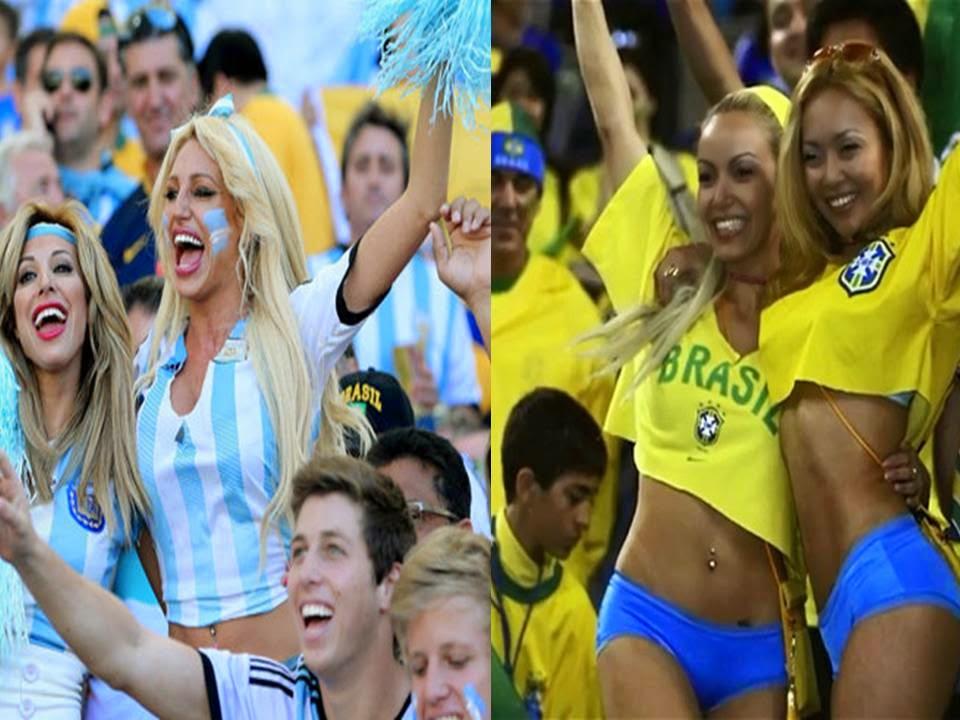 Suporter Argentina dan Suporter Brasil