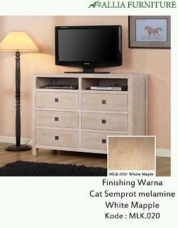 Contoh Furniture Semprot Melamine White Mapple