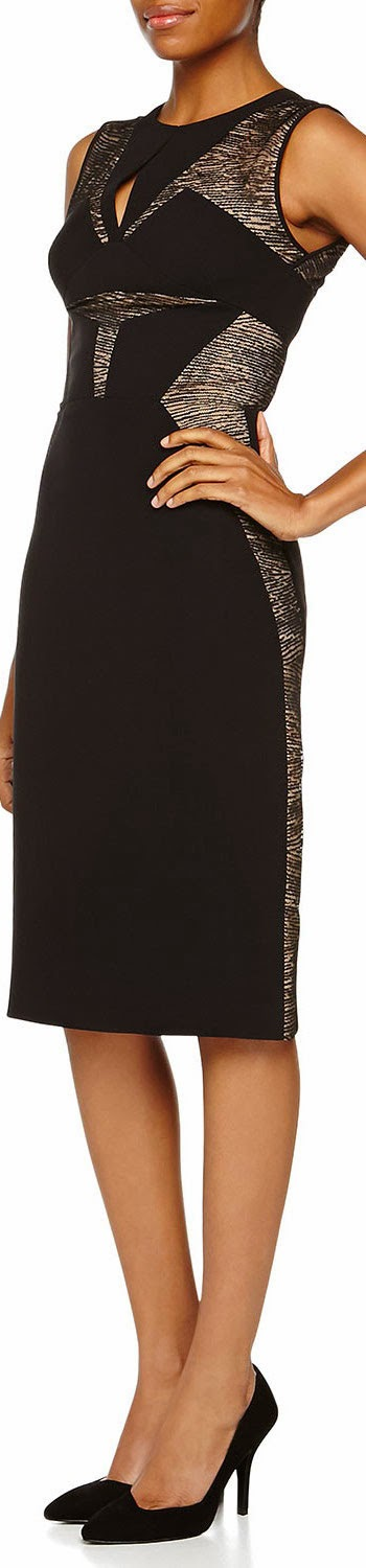 J. Mendel  Sleeveless Sheath Dress With Lace