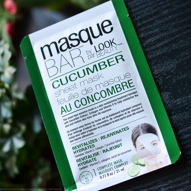 Masque Bar by Look Beauty Cucumber Sheeet Face Mask Review
