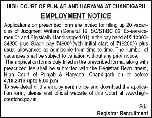 High Court of Punjab and Haryana at Chandigarh
