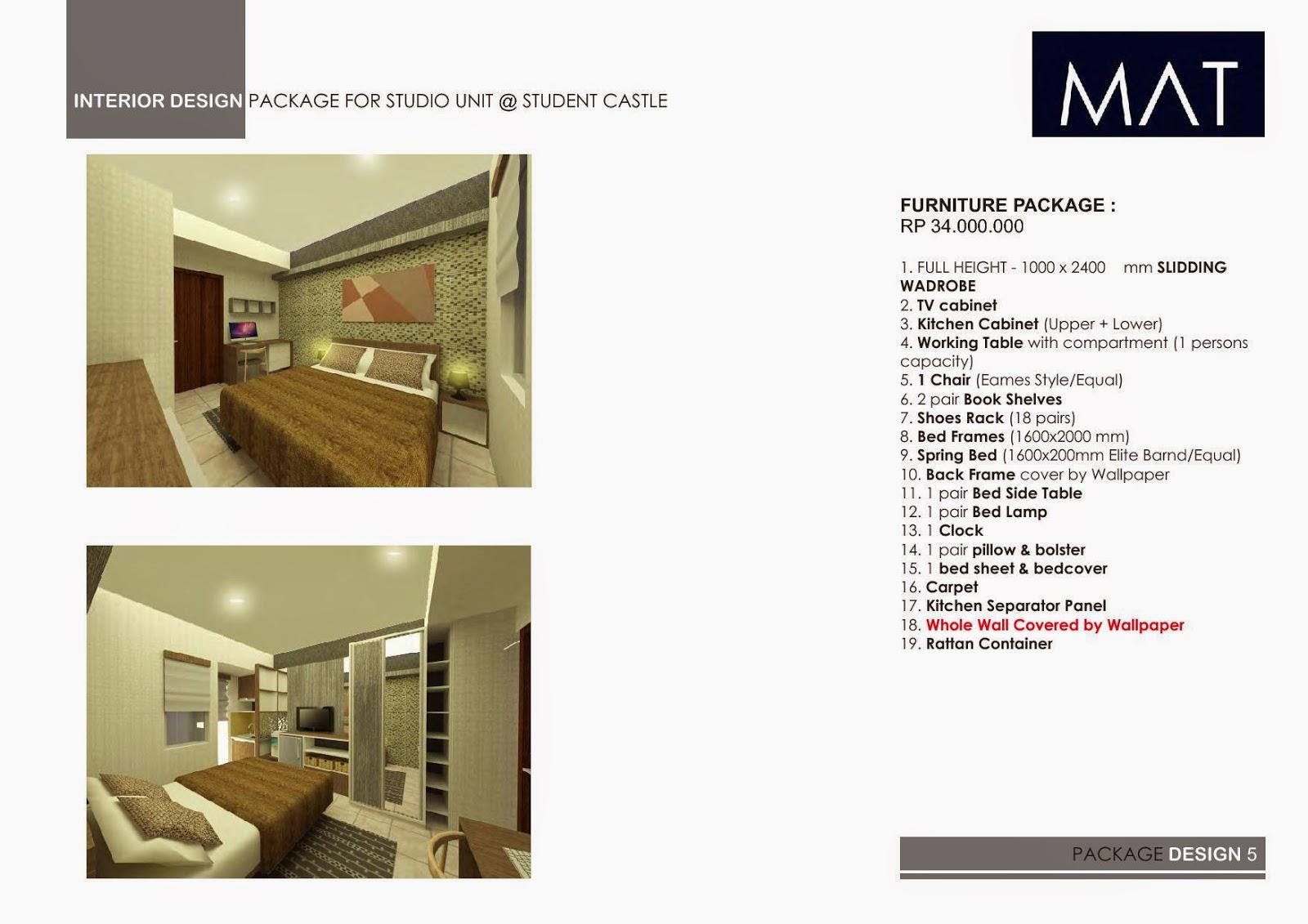 student castle apartment jogja 081326002999 : paketan interior