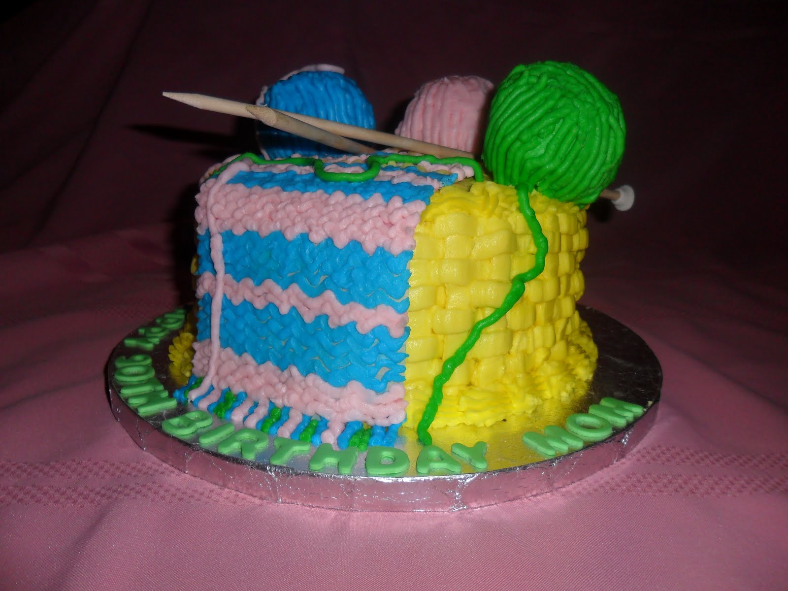 Knitting Cakes Images : Larry the cake guy knitting