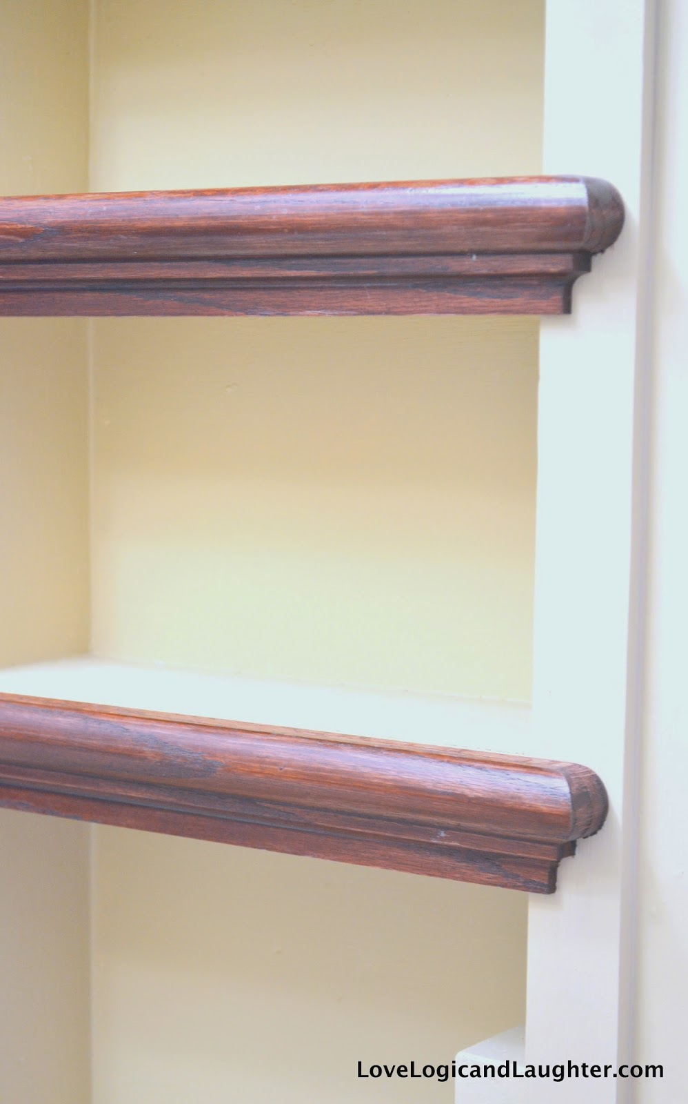 Using Stair Tread Nosing As Finishing Trim On Built In
