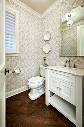Half bathroom design ideas cozy pinkbungalow - Half bath remodel ideas ...