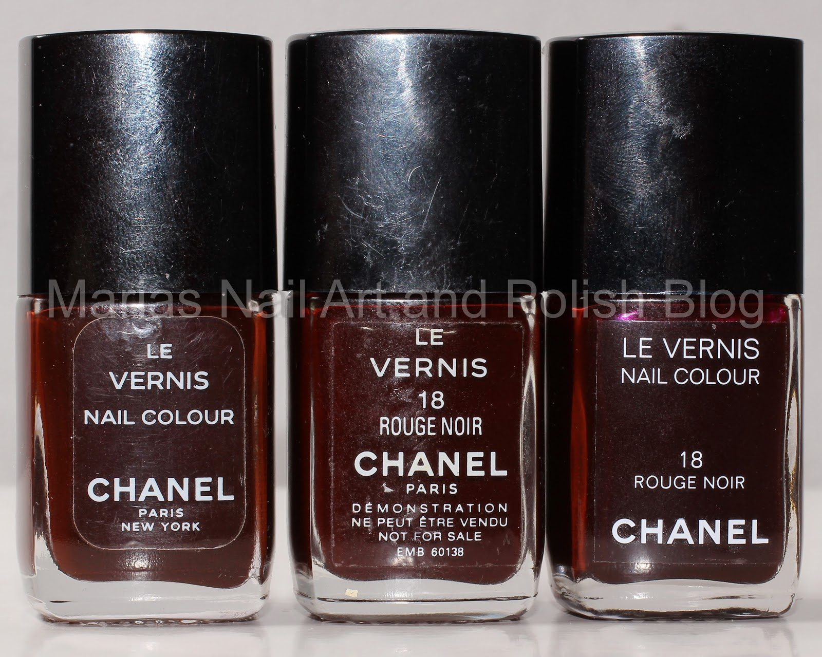 Marias Nail Art and Polish Blog: Chanel Rouge Noir 18 - Vamp 18, 5 x ...