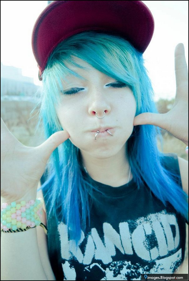 Cute Girls With Blue Hair