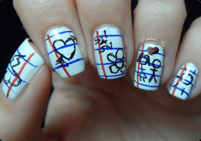 Polished art she who does nail art stickmen she who does nail art stickmen challenge barry prinsesfo Gallery