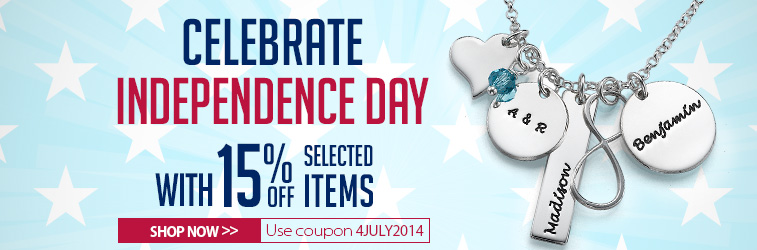 Independence Day Sale at MyNameNecklace