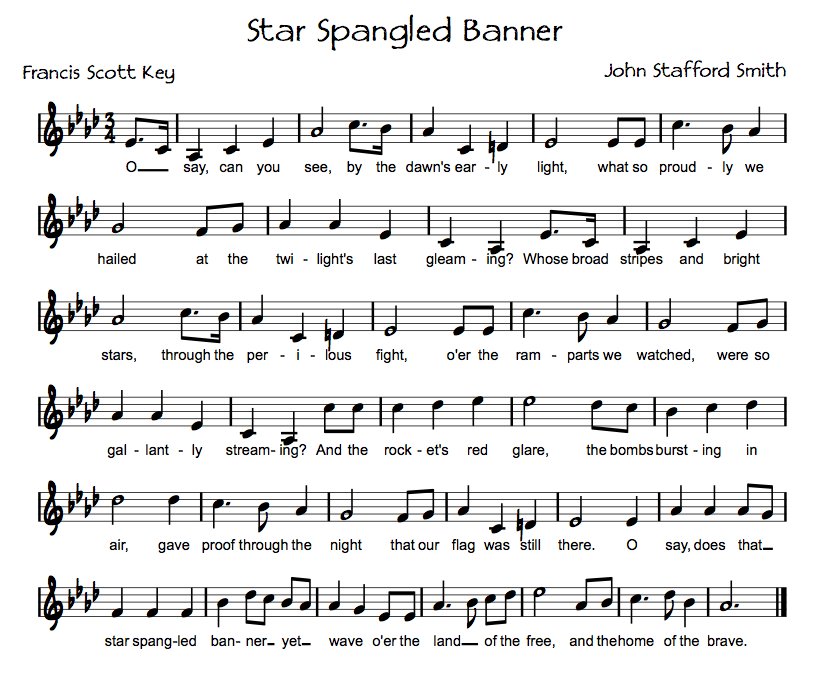 The Star Spangled Banner Song For Kids