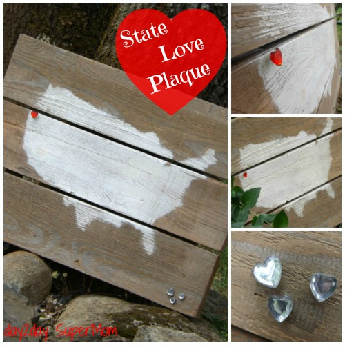 State Love Plaque ~ DIY Friday