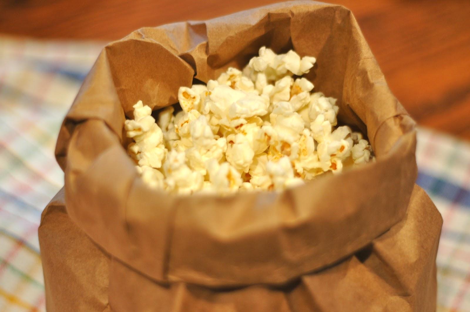 Betwixt & Between: Homemade Microwave Popcorn