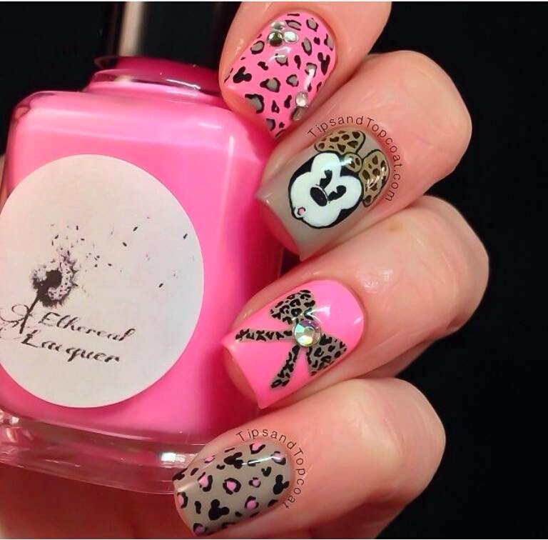 acrilic nails rosa 2014