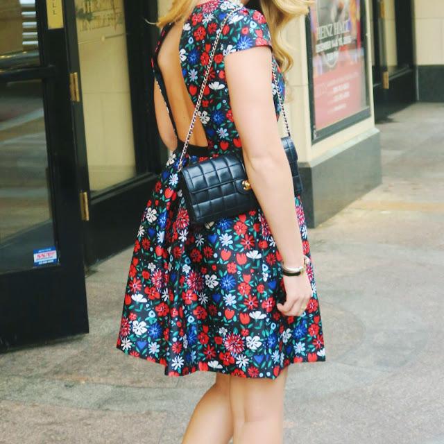 shoshanna paris dress and chanel bag