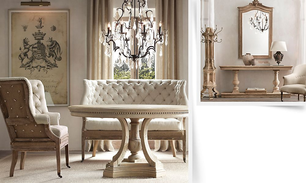 Restoration Hardware Round Dining Room