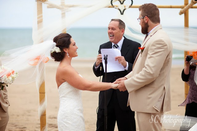 sandy beach wedding, bridgman, michigan