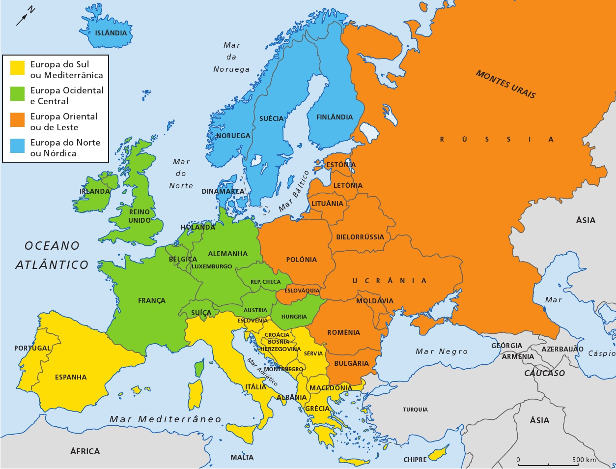 Geografia: Mapas Europa