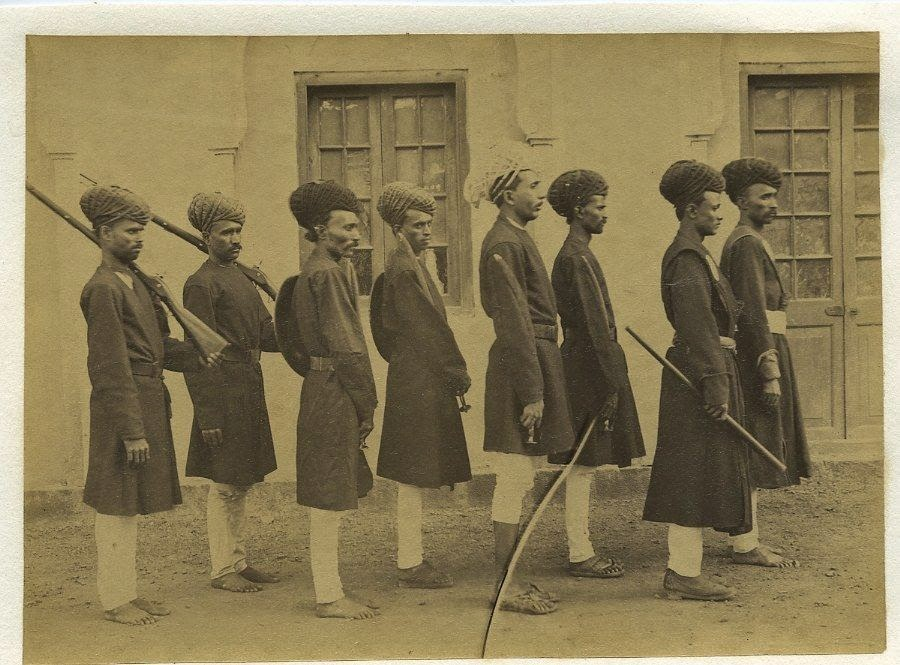 Group of Indian Foot Soldiers - c1880's