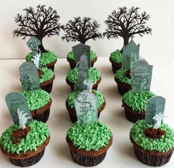 Healthiana Spooky Halloween Cupcake Decorations
