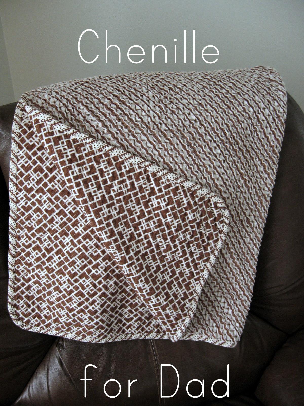 faux chenille blanket donu0027t peek dad - Chenille Blanket