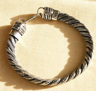 Rope Designed Cheap Silver Bracelet