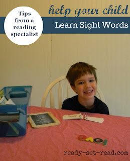 back to school ideas, learn sight words
