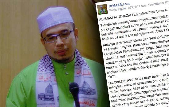 Netizen 'panas' dengan kenyataan Dr. Maza isu mansuh khalwat