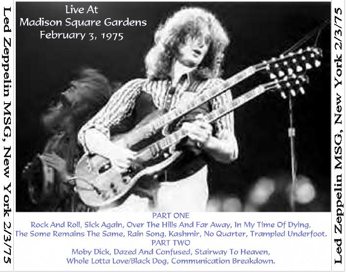 Plumdusty 39 S Page Led Zeppelin 1975 02 03 Madison Square Garden New York Ny