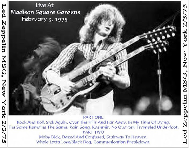 Plumdusty 39 s page led zeppelin 1975 02 03 madison square garden new york ny for Led zeppelin madison square garden