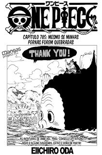 One Piece 785 Mangá - Português