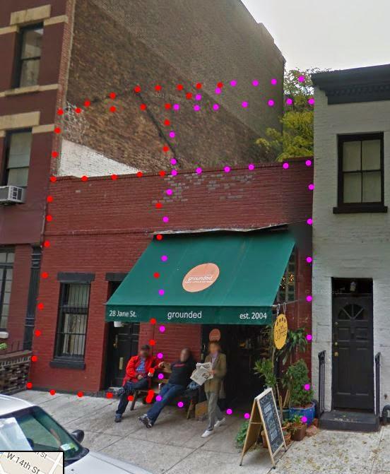 Vielleicht Waren Das Ja Zwei Ganz Schmale Doppelhäuser Auf 28 Jane Street.  Die Gestaltung Der Fassade Lässt Sowas Jedenfalls Vermuten.